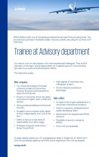 Advisory trainee summer_KPMG